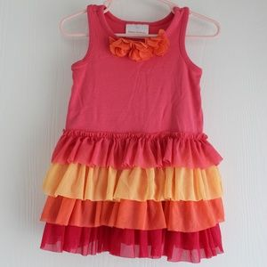 NWOT Hanna Andersson Tiered Ruffle Dress 18-24 M